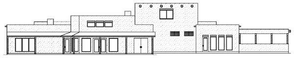 Contemporary Santa Fe Southwest House Plan 89866 Rear Elevation