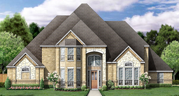 European Victorian House Plan 89867 Elevation
