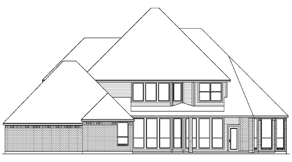 European Victorian House Plan 89867 Rear Elevation