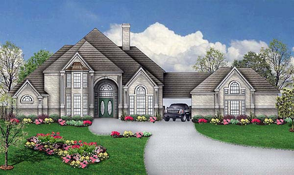 European Tudor Victorian House Plan 89868 Elevation