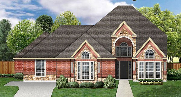 European, Victorian House Plan 89869 with 4 Beds, 3 Baths, 3 Car Garage Elevation