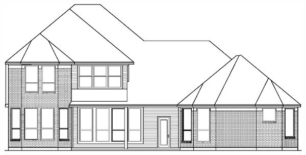 European, Victorian House Plan 89869 with 4 Beds, 3 Baths, 3 Car Garage Rear Elevation