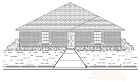 Traditional House Plan 89874 Elevation
