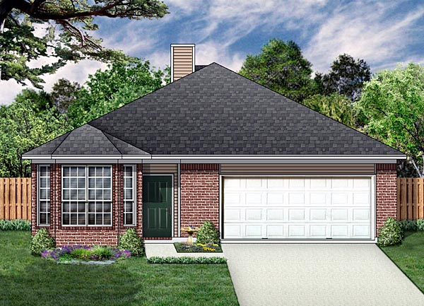Traditional House Plan 89877 Elevation