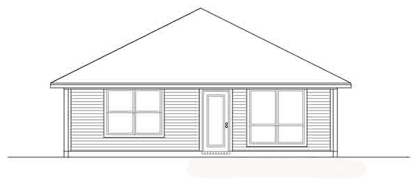 Traditional House Plan 89878 Rear Elevation