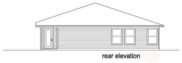 Traditional House Plan 89879 Rear Elevation