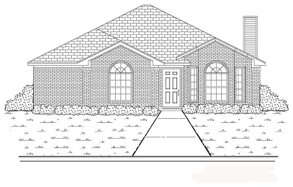 Traditional House Plan 89882 Elevation