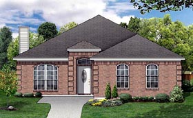 Traditional House Plan 89887 Elevation