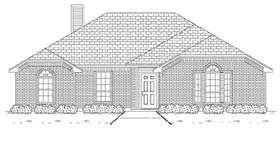 Traditional House Plan 89888 with 3 Beds, 2 Baths, 2 Car Garage Elevation