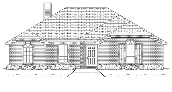 Traditional House Plan 89888 Elevation
