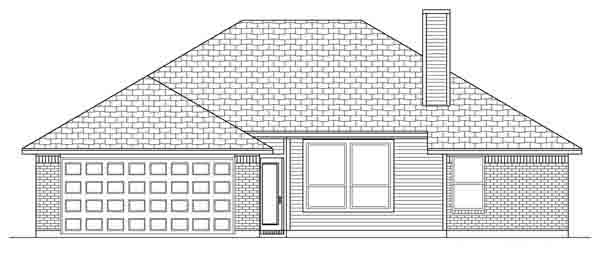 Traditional House Plan 89888 Rear Elevation