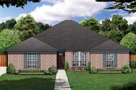 House Plan 89890 | Traditional Style Plan with 1976 Sq Ft, 3 Bedrooms, 2 Bathrooms, 2 Car Garage Elevation