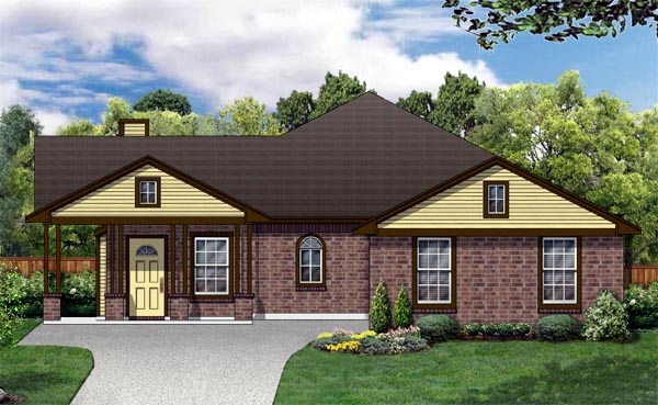 Traditional House Plan 89891 Elevation