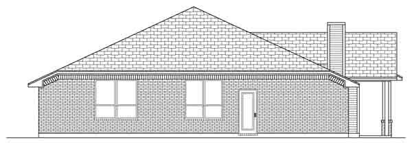 Traditional House Plan 89891 Rear Elevation
