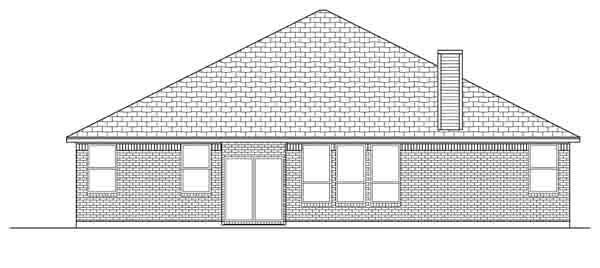 Traditional House Plan 89894 Rear Elevation