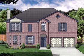 Traditional House Plan 89896 with 4 Beds, 3 Baths, 2 Car Garage Elevation