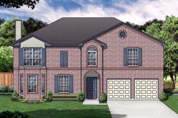 Traditional House Plan 89896 Elevation