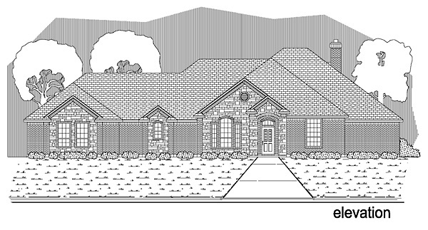 Traditional House Plan 89898 Elevation