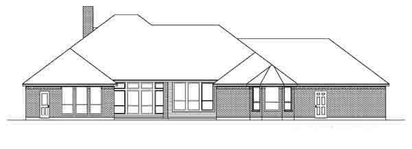 Traditional House Plan 89898 Rear Elevation