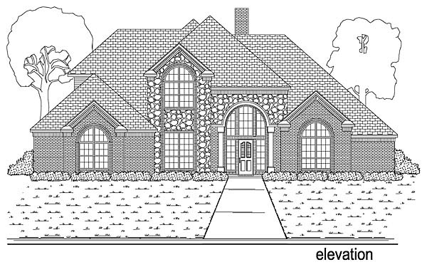 European, Traditional House Plan 89899 with 4 Beds, 4 Baths, 3 Car Garage Elevation
