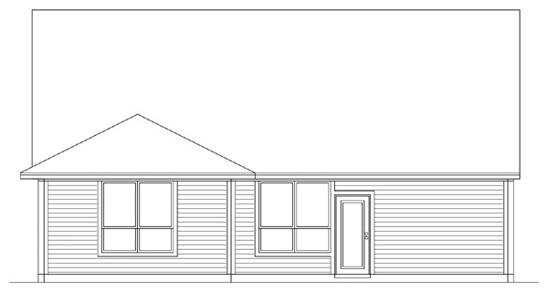 Country Traditional House Plan 89901 Rear Elevation