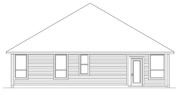 Traditional House Plan 89904 Rear Elevation