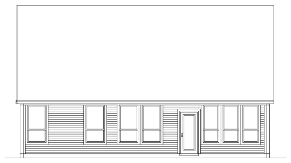 Country Craftsman House Plan 89905 Rear Elevation