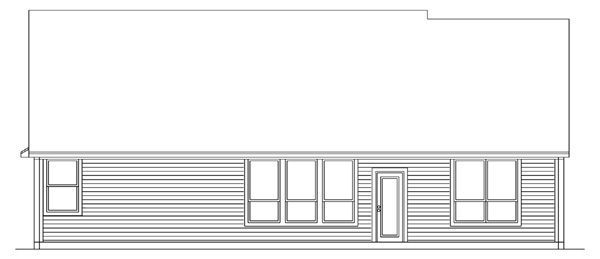 Country Traditional House Plan 89907 Rear Elevation