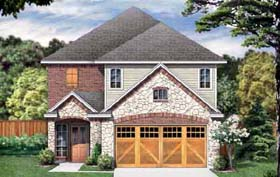 House Plan 89908 | Traditional Style Plan with 2064 Sq Ft, 3 Bedrooms, 3 Bathrooms, 2 Car Garage Elevation