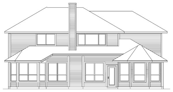 Traditional House Plan 89909 Rear Elevation