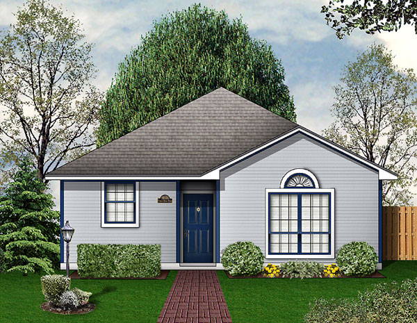 Traditional House Plan 89914 with 3 Beds, 2 Baths Elevation