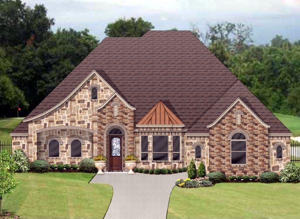 European, Traditional, Tudor House Plan 89916 with 4 Beds, 4 Baths, 3 Car Garage Elevation