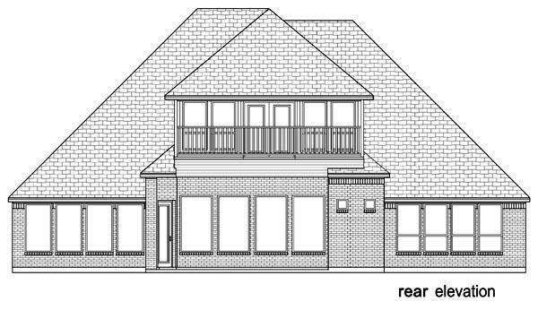 European, Traditional, Tudor House Plan 89916 with 4 Beds, 4 Baths, 3 Car Garage Rear Elevation