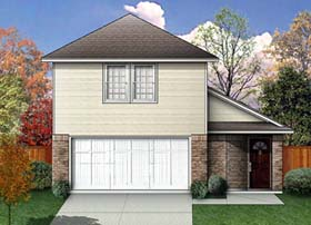 House Plan 89918 | Traditional Style Plan with 1488 Sq Ft, 3 Bedrooms, 3 Bathrooms Elevation