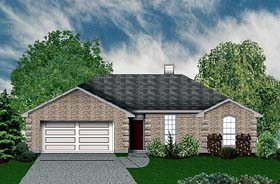 Traditional House Plan 89921 with 3 Beds, 2 Baths, 2 Car Garage Elevation