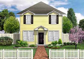 House Plan 89922 | Traditional Style Plan with 1568 Sq Ft, 3 Bedrooms, 3 Bathrooms Elevation