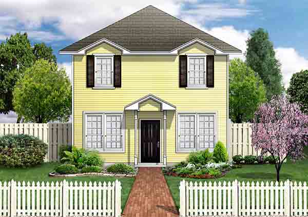 Traditional House Plan 89922 Elevation