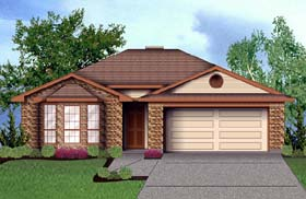 Traditional House Plan 89923 with 4 Beds, 2 Baths, 2 Car Garage Elevation
