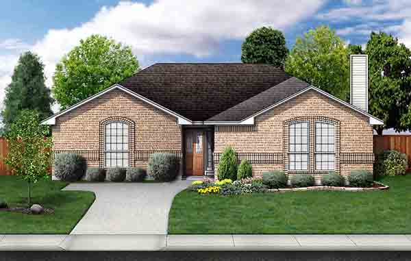 Traditional House Plan 89927 Elevation