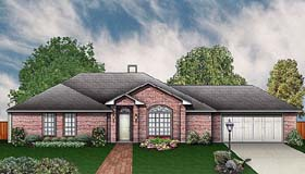 House Plan 89928 | Traditional Style House Plan with 1680 Sq Ft, 3 Bed, 3 Bath, 2 Car Garage Elevation