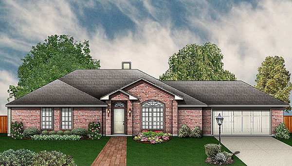 Traditional House Plan 89928 Elevation