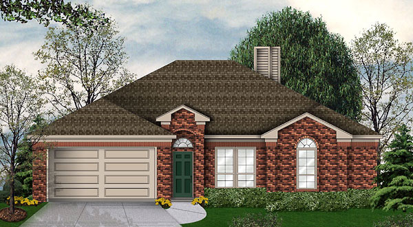 Traditional House Plan 89933 with 4 Beds, 2 Baths, 2 Car Garage Elevation