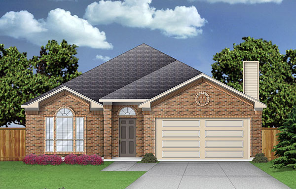 House Plan 89934 | Traditional Style Plan with 1782 Sq Ft, 3 Bedrooms, 2 Bathrooms, 2 Car Garage Elevation