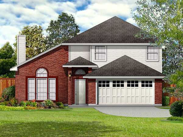 Traditional House Plan 89935 with 3 Beds, 3 Baths, 2 Car Garage Elevation