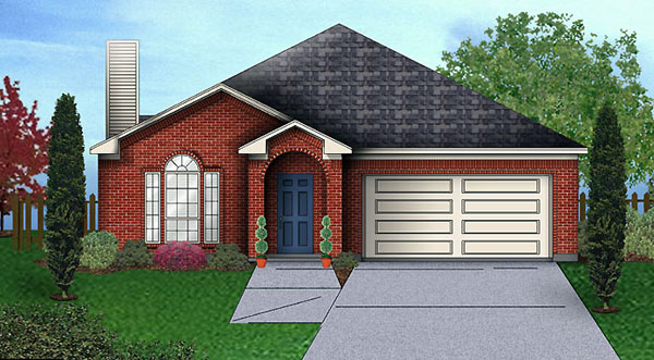 Traditional House Plan 89936 with 4 Beds, 2 Baths, 2 Car Garage Elevation
