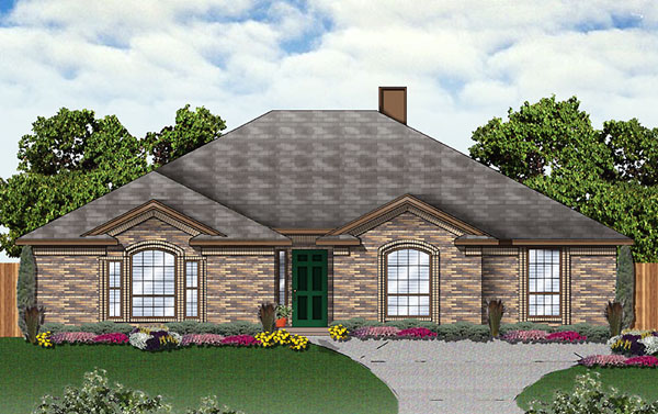 Traditional House Plan 89937 Elevation