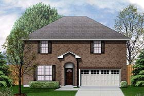 House Plan 89938 | Traditional Style Plan with 2005 Sq Ft, 3 Bedrooms, 3 Bathrooms, 2 Car Garage Elevation