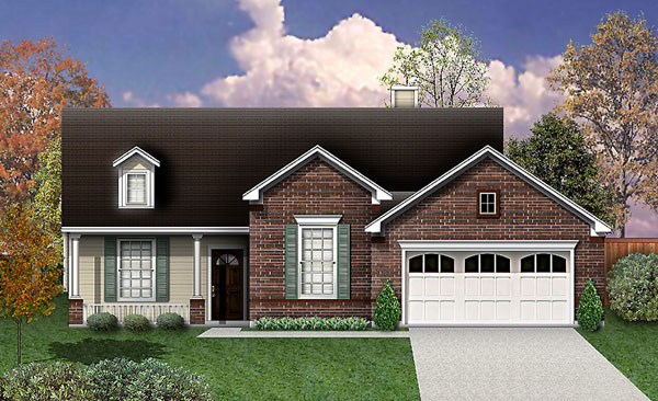 House Plan 89939 | Country Style Plan with 2010 Sq Ft, 3 Bedrooms, 3 Bathrooms, 2 Car Garage Elevation