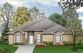Traditional House Plan 89942 with 3 Beds, 2 Baths, 2 Car Garage Elevation