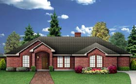 Traditional House Plan 89944 with 4 Beds, 3 Baths, 2 Car Garage Elevation
